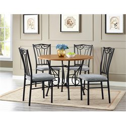 Bernards Heritage 5 Piece Dining Set in Wheat