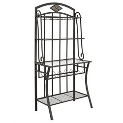 Bernards Diamond Tile Bakers Rack