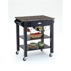 Bernards Kitchen Cart in Faux Marble