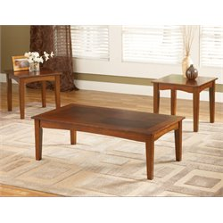 Bernards 3 Piece Coffee Table Set in Cherry