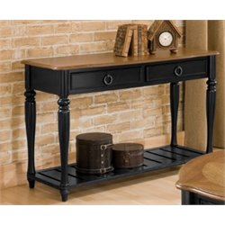 Bernards Oak Console Table in Aston Black
