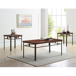 Bernards Roman 3 Piece Coffee Table Set