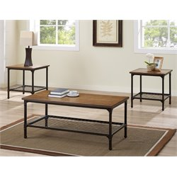 Bernards Stockton 3 Piece Coffee Table Set