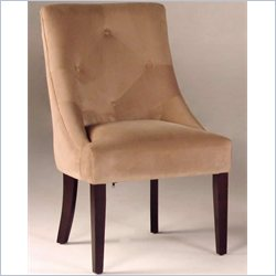 Bernards Tufted Microfiber Swayback Chair in Merlot