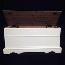 Bernards KD Cedar Chest in White Finish