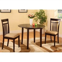 Bernards 3 Piece Dinette in Merlot