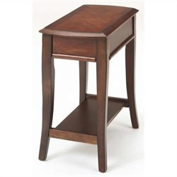 Bernards Broadway Merlot Side Table in Cherry