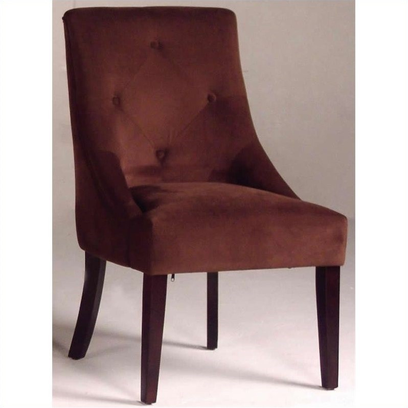 Upholstered Microfiber Fabric Chair in Merlot