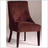 Bernards Upholstered Microfiber Fabric Chair in Merlot