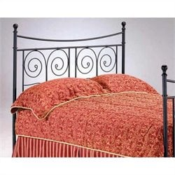 Bernards Sorrento Spindle Headboard in Black - Full