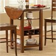 Bernards Ridgewood Drop Leaf Dining Table and Wine Rack in Mahogany