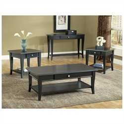 Bernards Broadway Sofa Table in Black