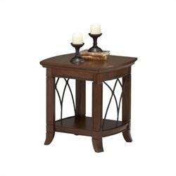 Bernards Cathedral End Table in Cherry