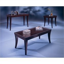 Bernards Versaille 4 Piece Coffee Table Set in Merlot
