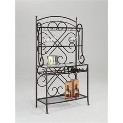 Chintaly Metal Bakers Rack in Hammered Brown