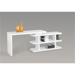 Chintaly Home Office Desk in Gloss White