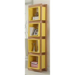 Chintaly 4 Shelf Bookcase in Gloss Yellow
