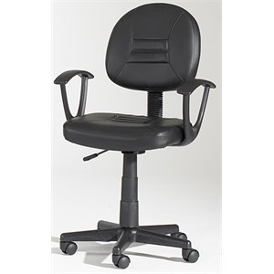 Chintaly Swivel Pneumatic Gas Lift Office Chair in Black