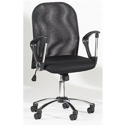Chintaly Pneumatic Office Chair in Black Mesh