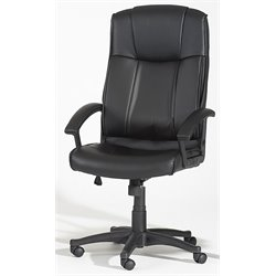 Chintaly  Pneumatic High Back Office Chair in Black