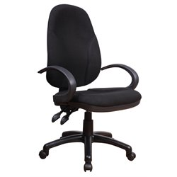 Chintaly Adjustable Office Chair in Black