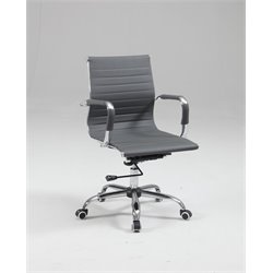 Chintaly Upholstered Back Office Chair in Gray