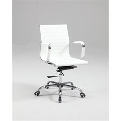Chintaly Upholstered Back Office Chair in White