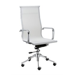 Chintaly Pneumatic Office Chair in White Mesh