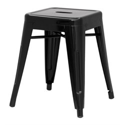 Chintaly Galvanized Steel Side Chair in Black
