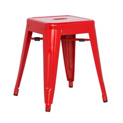 Chintaly Galvanized Steel Side Chair in Red