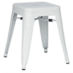 Chintaly Galvanized Steel Side Chair in White