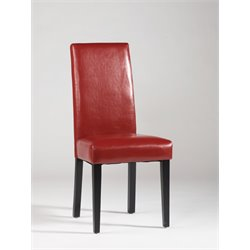 Chintaly Dining Chair in Merlot and Red