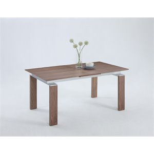 Chintaly Extendable Dining Table in Walnut