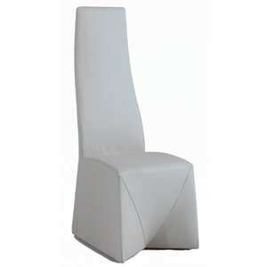 Chintaly Fully Upholstered High Back Dining Chair in Gray