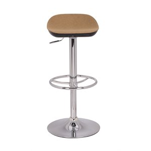 Chintaly Adjustable Backless Bar Stool in Camel