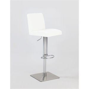 Chintaly Pneumatic Swivel Bar Stool in White