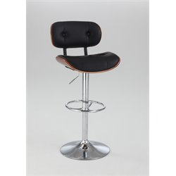 Chintaly Pneumatic Swivel Bar Stool in Black