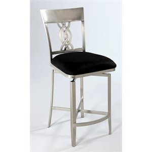 Chintaly Swivel Counter Stool in Black