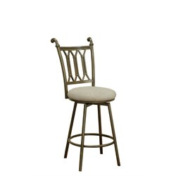 Chintaly Bar Stool in Matt Bronze and Beige