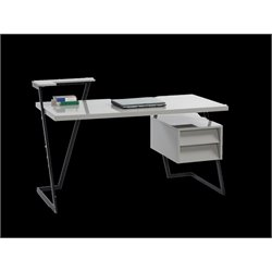 Chintaly Imports Home Office Desk in Gloss Black and Gray