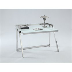 Chintaly Imports Home Office Desk in Stainless Steel