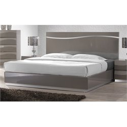 Chintaly Imports King Panel Bed in Gray