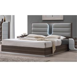 Chintaly Imports Queen Panel Bed in Beige
