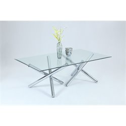 Chintaly Imports Dining Table in Chrome