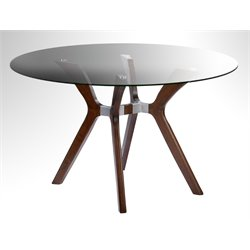 Chintaly Imports Round Dining Table in Brown