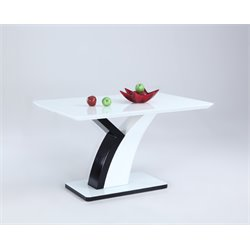 Chintaly Imports Dining Table in White and Black