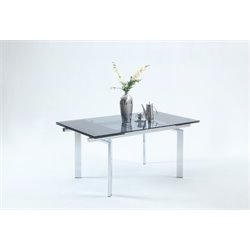 Chintaly Imports Dining Table in Blue and Chrome