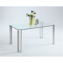 Chintaly Imports Dining Table in Stainless Steel