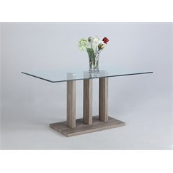 Chintaly Imports Dining Table in Gray