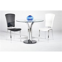 Chintaly Imports Round Dining Table in Black